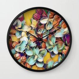 Painted Lilacs Wall Clock