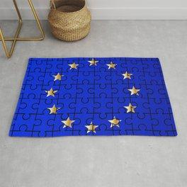 European Union Flag Jigsaw Rug