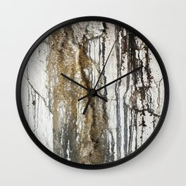 White Decay II Wall Clock