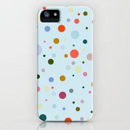Blue Confetti iPhone Case