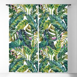 Tropical exotic banana leaves Blackout Curtain