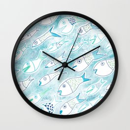 The Multiplication of the Fishes Wall Clock