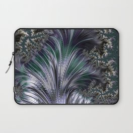 """""""Orion's Leaf"""" Green and Silver Fractal Laptop Sleeve"""