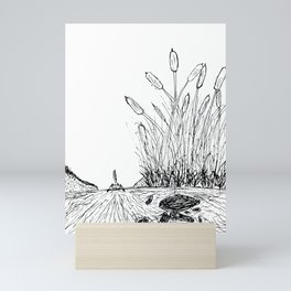 Little Boat in the Reeds Mini Art Print
