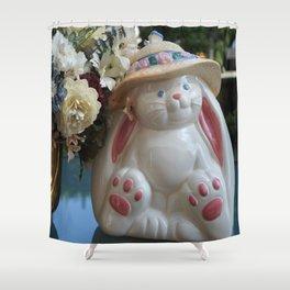 A White Rabbit Shower Curtain