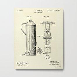 Fire Extinguisher-1893 Metal Print