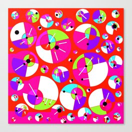 Bubble Red Canvas Print