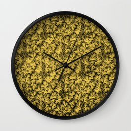 Vintage Floral Lace Leaf Primrose Yellow Wall Clock