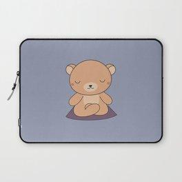 Kawaii Cute Yoga Bear Laptop Sleeve