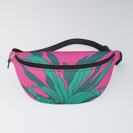 Bright pink potted plant Fanny Pack