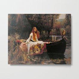 John William Waterhouse The Lady Of Shalott Metal Print