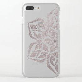 Silver Snowflake Clear iPhone Case