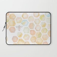 Bee and honeycomb watercolor Laptop Sleeve