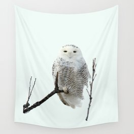 Snowy in the Wind (Snowy Owl 2) Wall Tapestry