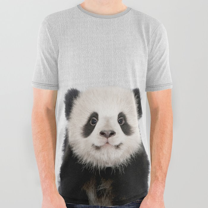 Panda Bear - Colorful All Over Graphic Tee