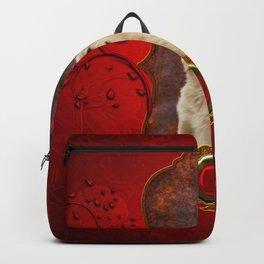 Beautiful golden retriever Backpack