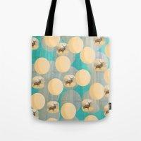 random Tote Bags featuring Random by Megan Spencer