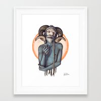 bill Framed Art Prints featuring Bill by Alexa-Renee