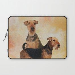 Airedale Terriers Digital Art Laptop Sleeve