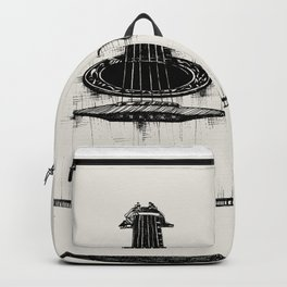 Guitar by Kathy Morton Stanion Backpack
