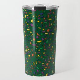 Terrazzo green background Travel Mug