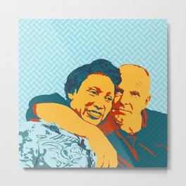 Mildred and Richard Loving Metal Print
