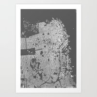 san francisco map Art Prints featuring San Francisco Map by Maps Factory