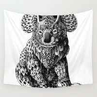bioworkz Wall Tapestries featuring Koala by BIOWORKZ