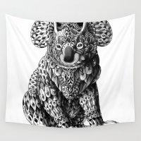 koala Wall Tapestries featuring Koala by BIOWORKZ