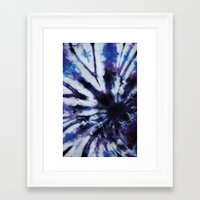 tie dye Framed Art Prints featuring TIE DYE by jajoão
