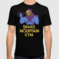 snake mountain gym Mens Fitted Tee Black LARGE