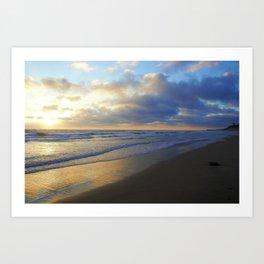 California Beach at Dusk by Reay of Light Art Print