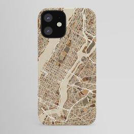 New York City Street Map iPhone Case