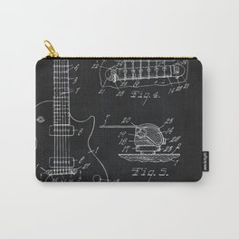 Gibson Guitar Patent Les Paul Vintage Guitar Diagram Carry-All Pouch