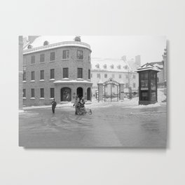 Colonial Quebec City - Early Christmas Morning Metal Print