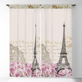 Ooh La La Parisian Eiffel Tower by Saletta Home Decor Blackout Curtain