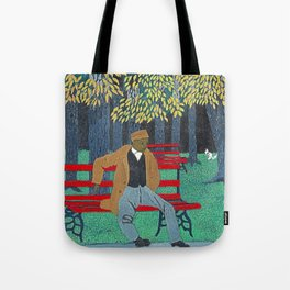 African American Masterpiece 'Man on a Bench' by Horace Pippin Tote Bag