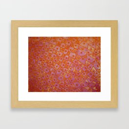 Pink and Orange Fleur de Lis Framed Art Print