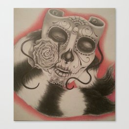 Dia De Los Muertos Touch of Class Canvas Print