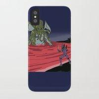 neon genesis evangelion iPhone & iPod Cases featuring Neon Genesis Elder God: End of EVA by CaptainSunshine