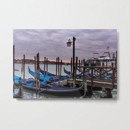 Venetian Gondole Metal Print