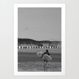 lone surfer  Art Print
