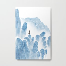 Girl in the mountains Metal Print