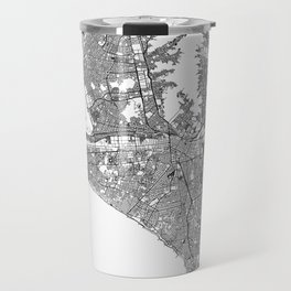 Lima White Map Travel Mug