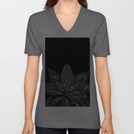 Gray Black Agave with Black Silver Glitter #2 #shiny #tropical #decor #art #society6 Unisex V-Ausschnitt