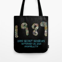 1989 Tote Bags featuring 1989 Secret Sessions Anniversary by Alexander Studios