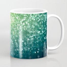 Spring Teal Green Sparkles Coffee Mug