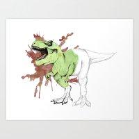 trex Art Prints featuring tRex by Sophianne B. Brault
