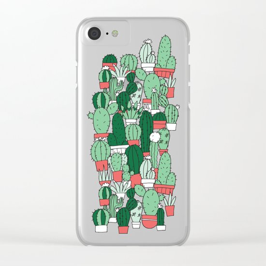 Where's Cactus? Clear iPhone Case
