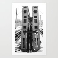 At a cross Art Print